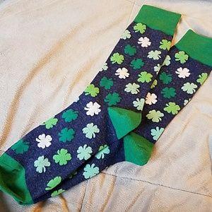 Other - Shamrock socks lucky clover